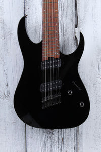 Ibanez RGMS7 Solid Body Multi Scale 7 String Electric Guitar Black Gloss Finish