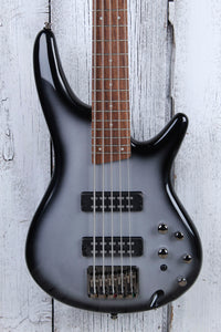 Ibanez SR305E 5 String Electric Bass Guitar w Power Tap Metallic Silver Sunburst