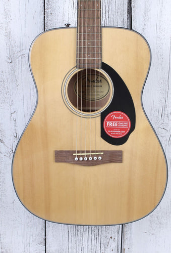 Fender® Classic Design CC-60S Concert Acoustic Guitar Solid Spruce Top Natural