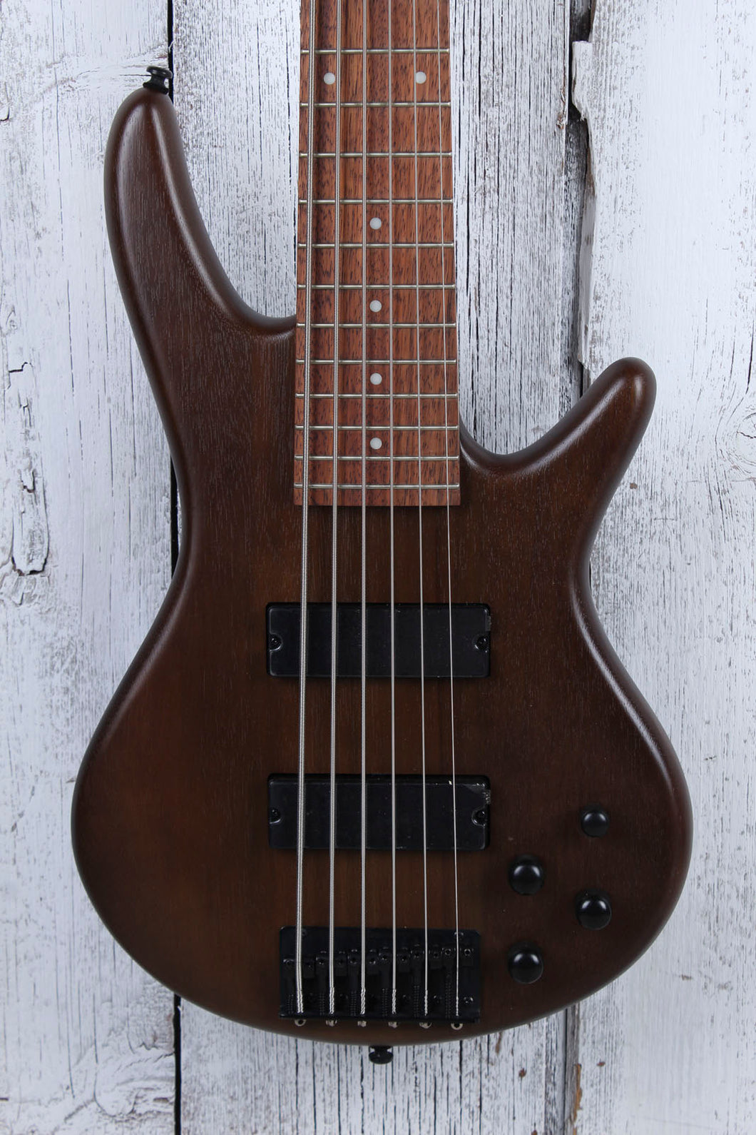 Ibanez GIO Soundgear GSR206 6 String Electric Bass Guitar Phat II EQ Walnut Flat