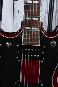 Epiphone 2017 SG Double Neck Electric Guitar Cherry Finish with Hardshell Case