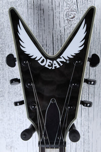 Dean V Select Series Quilt Top Solid Body Electric Guitar Black Finish SAMPLE