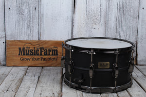 Tama LST148 Sound Lab Project Series Big Black Steel 8x14 Snare Drum Flat Black