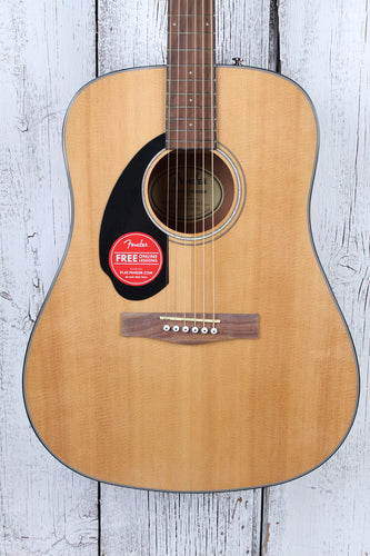 Fender® CD-60S Left Handed Dreadnought Acoustic Guitar Solid Spruce Top Natural