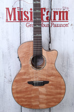 Load image into Gallery viewer, Luna High Tide Exotic Mahogany Nylon Grand Concert Acoustic Electric Guitar