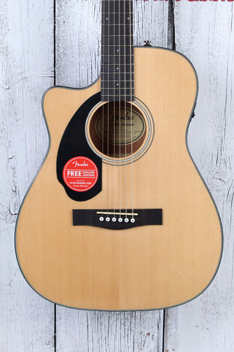 Fender® CC-60SCE Left Handed Concert Acoustic Electric Guitar Solid Spruce Top