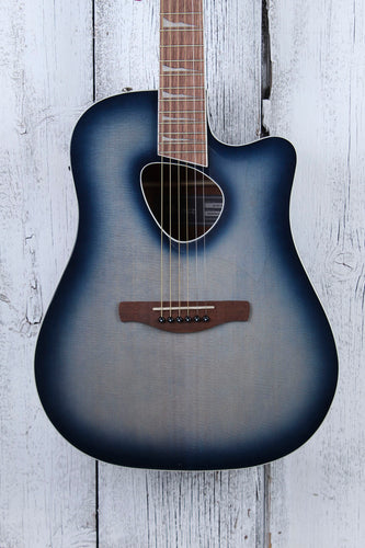 Ibanez Altstar ALT30 Acoustic Electric Guitar Indigo Blue Burst High Gloss
