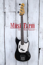 Load image into Gallery viewer, Fender JMJ Road Worn Mustang Bass 4 String Electric Bass Guitar Black w Gig Bag