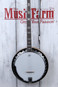 Washburn B10 Americana Series 5 String Resonator Back Banjo Gloss Sunburst NAMM