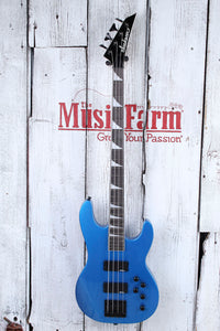 Jackson JS Concert Bass JS3 4 String Electric Bass Guitar Metallic Blue Gloss