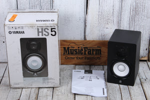 Yamaha Used HS5 Bi Amp Two Way Powered Studio Monitor 70 Watt Speaker with Box