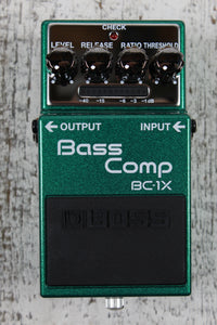 Boss BC-1X Bass Compressor Electric Bass Guitar Effects Pedal with FREE Cables