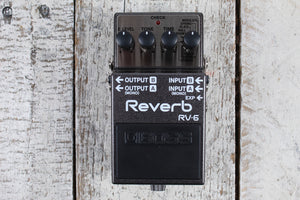 Boss RV-6 Digital Reverb Pedal Electric Guitar Reverb Effects Pedal with 8 Modes