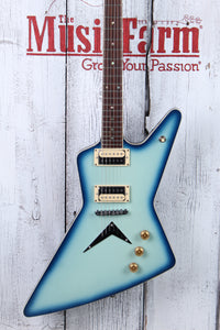 Dean Z 79 BB Solid Body Electric Guitar DMT Design HH Z 79 Blue Burst Finish