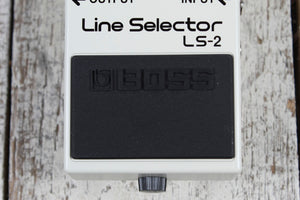 Boss LS-2 Line Selector Pedal Electric Guitar Line Selection Effects Pedal