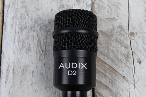 Audix D2 Professional Dynamic Instrument Microphone Hypercardioid Drum Mic