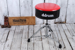 ddrum Mercury Fat Double Braced Drum Throne Red and Black Sparkle MFAT RB