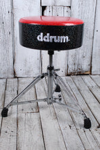 Load image into Gallery viewer, ddrum Mercury Fat Double Braced Drum Throne Red and Black Sparkle MFAT RB