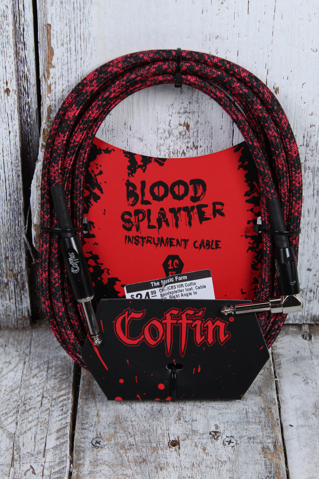 Coffin CF-ICBS10R  Bloodsplatter Insrument Cable 10 Foot Right Angle to Straight