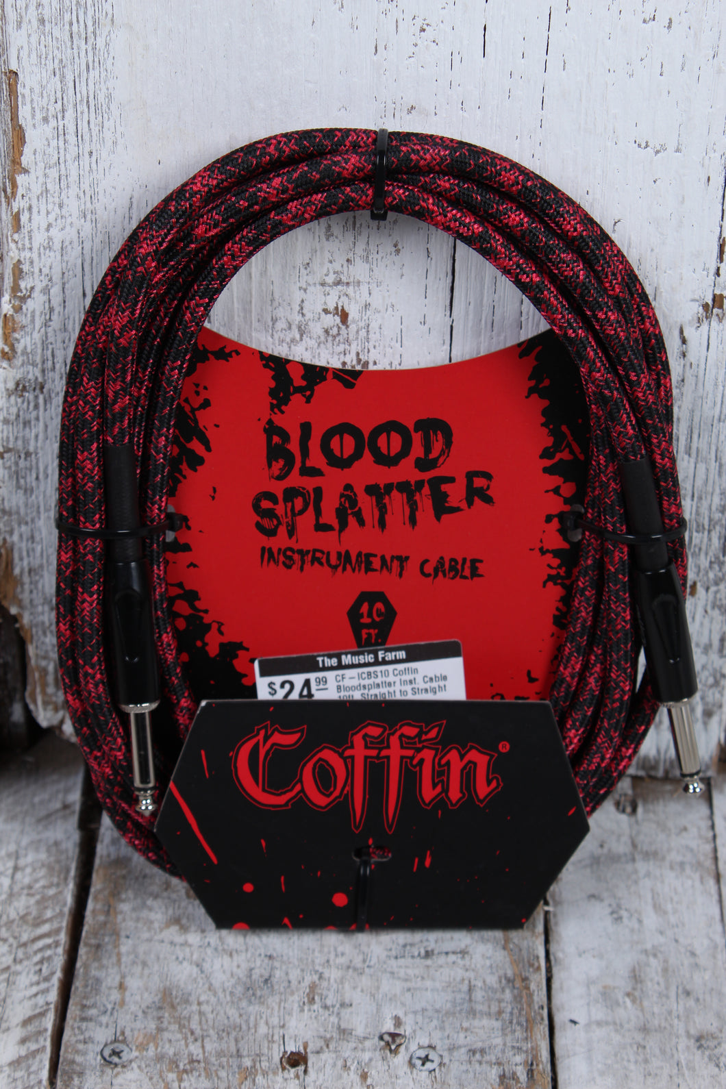 Coffin CF-ICBS10  Bloodsplatter Insrument Cable 10 Foot Straight to Straight