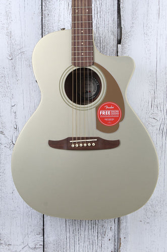 Fender Newporter Player Acoustic Electric Guitar Solid Spruce Top Champagne