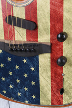 Load image into Gallery viewer, Fender American Flag Acoustasonic Telecaster Acoustic Electric Guitar w Gig Bag