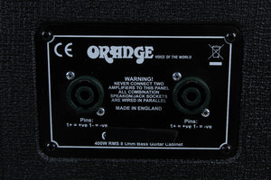 Orange OBC115 Electric Bass Guitar Amplifier Speaker Cabinet 400 Watt 1 x 15 Cab