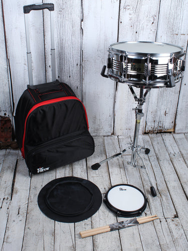 Vic Firth V6806 Traveler Snare Drum Kit with Stand Bag Practice Pad and Sticks