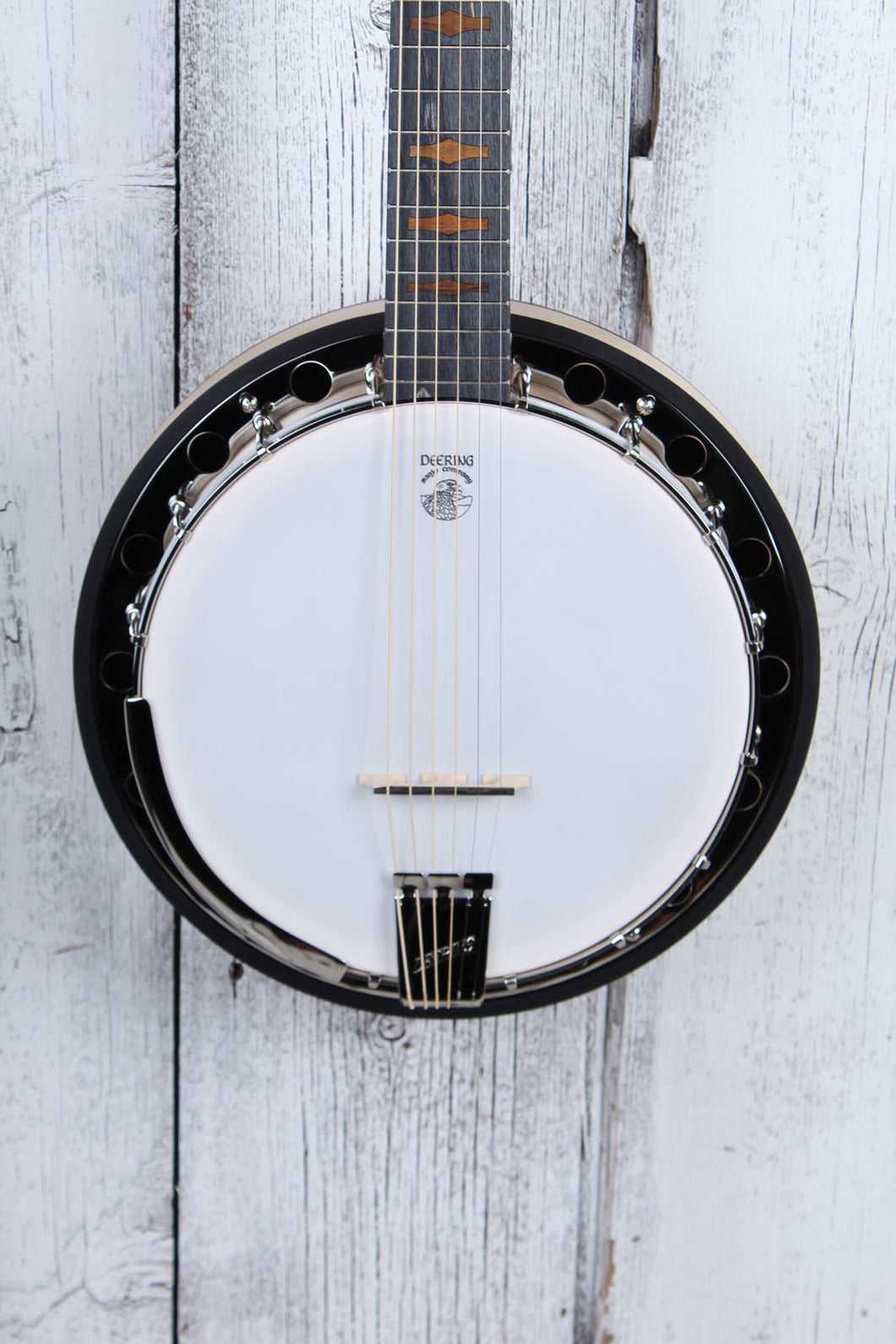 Deering Goodtime Six-R 6 String Banjo with Resonator Midnight Maple Fretboard