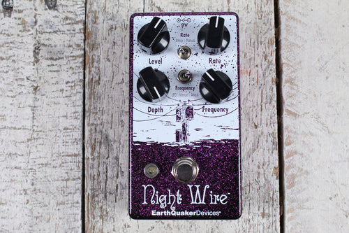 EarthQuaker Devices Night Wire Harmonic Tremolo Electric Guitar Effects Pedal