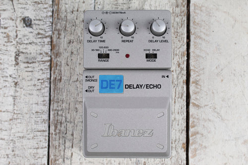 Ibanez DE7 Effects Pedal Electric Guitar Delay and Echo Effects Pedal