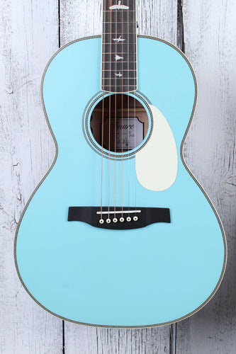 Paul Reed Smith LTD Powder Blue SE P20E Parlor Acoustic Electric Guitar w Gigbag