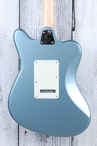 "Fender Squier Paranormal Super-Sonic 24"" Scale Electric Guitar Ice Blue Metallic"
