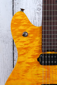 EVH Wolfgang WG Standard QM Electric Guitar Quilt Maple Top Transparent Amber