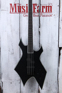 BC Rich Chris Kael Signature Warlock 4 String Electric Bass Guitar Satin Black