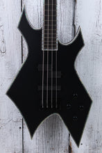 Load image into Gallery viewer, BC Rich Chris Kael Signature Warlock 4 String Electric Bass Guitar Satin Black
