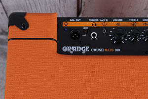 Orange Crush Bass 100 Electric Bass Guitar Combo Amplifier 100 Watt Amp with FX