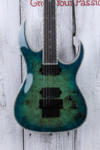 BC Rich Shredzilla Prophecy Exotic Archtop Electric Guitar with Floyd Cyan Blue