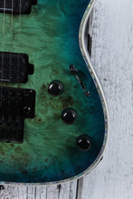 Load image into Gallery viewer, BC Rich Shredzilla Prophecy Exotic Archtop Electric Guitar with Floyd Cyan Blue