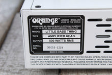 Load image into Gallery viewer, Orange Little Bass Thing Electric Bass Guitar Amplifier Head 500W Bass Amp BLEM