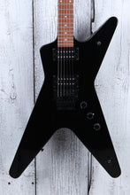 Load image into Gallery viewer, Dean MLX Floyd ML Solid Body Electric Guitar DMT Design HH Classic Black Gloss