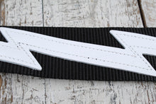 Load image into Gallery viewer, Levy's DM5-BLK 2 Black Polypropylene Guitar Strap with Leather Lightening Bolt