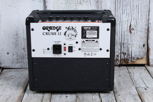 Orange CRUSH 12 Electric Guitar Combo Amplifier 12W Solid State Amp Black BLEM