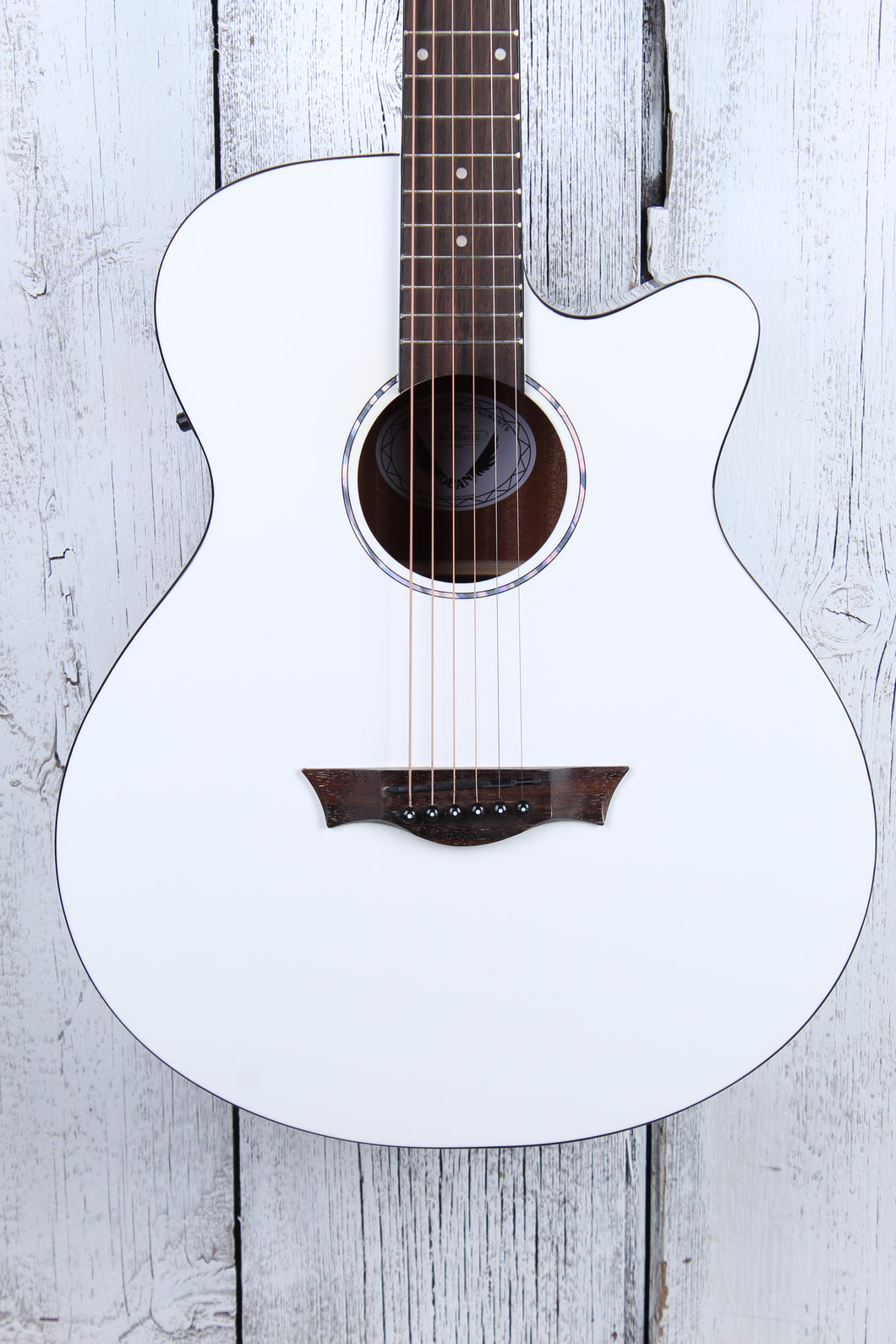 Dean AXS Axcess Performer Acoustic Electric Guitar Classic White AX PE CWH