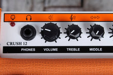Load image into Gallery viewer, Orange CRUSH12 Electric Guitar Combo Amplifier 12 Watt 1x6 Solid State Amp BLEM
