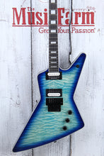Load image into Gallery viewer, Dean Z Select Floyd Quilt Top Electric Guitar Ocean Burst Finish Z SEL F QM OSB