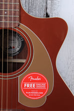 Load image into Gallery viewer, Fender® Newporter Player Acoustic Electric Guitar Solid Spruce Top Rustic Copper
