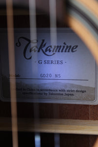 Takamine G Series GD20 Dreadnought Acoustic Guitar Natural Satin Finish