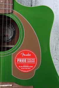 Fender® Redondo Player Acoustic Electric Guitar California Series Electric Jade