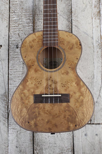 Kala Salted Caramel Exotic Burl Tenor Ukulele Burled Cypress Uke with Gig Bag
